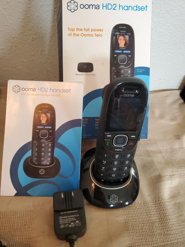 Ooma HD2 Handset with box and accessories