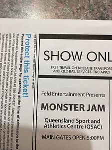 Monster Jam Brisbane 1 October 4 tickets $120 Moorina Caboolture Area Preview
