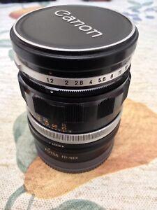 Vintage Canon FL 58mm f1.2 Sony E Mount Mint