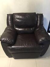 FULL LEATHER/ SOFA  LOUNGE Greenacre Bankstown Area Preview