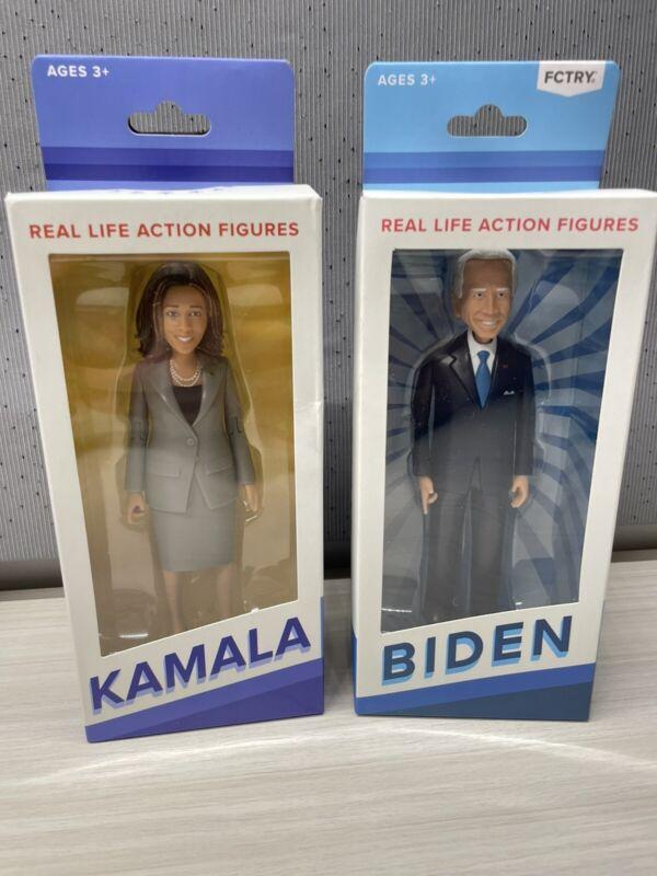 "Joe Biden + Kamala Harris Action Figures 6"" FCTRY Dolls"
