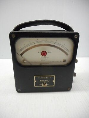 Roller-smith Steele Six Line Alternating Current Meter 10amp Max Mr51w010acaa