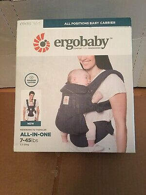 Ergobaby Omni 360 Dark Blue All Carry Positions Ergonomic Baby Carrier 7-45lbs