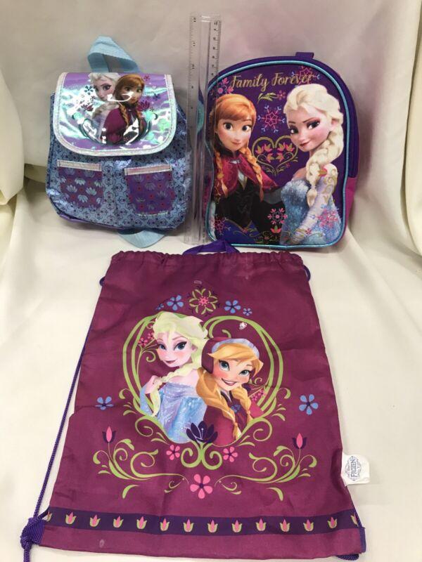#3 DISNEY FROZEN ELSA /ANNA Girls Kids Mini Backpacks Purse Shoulder Bag PURPLE