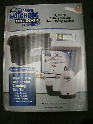 Basement Watchdog Big Dog Back Up Sump Pump Ac Dc Bwd12-120c
