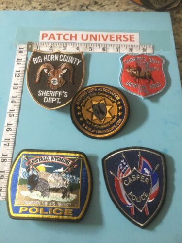 LOT OF 5  DIFFERENT WYOMING   SHOULDER PATCHES  G069
