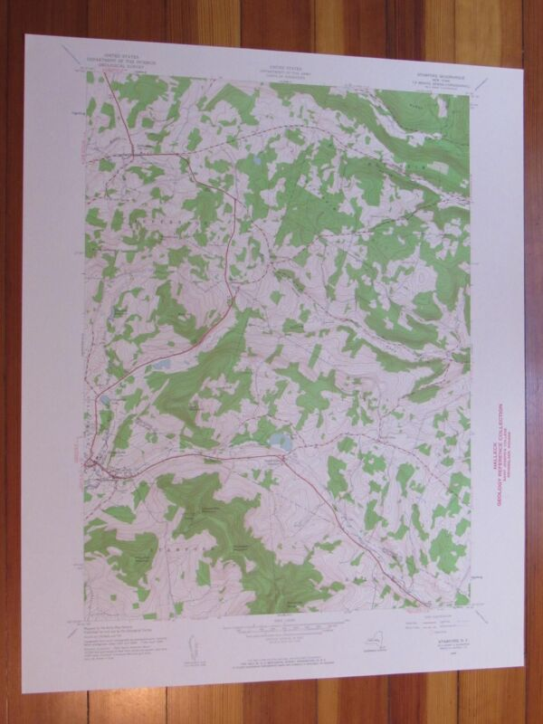 Stamford New York 1960 Original Vintage USGS Topo Map
