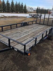 2016 Single Axle 14' utility trailer with ramp