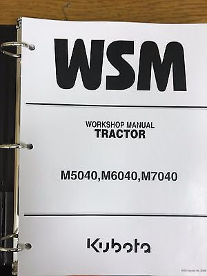Kubota M5040 M6040 M7040 Tractor Workshop Service Repair Manual