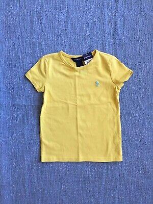 NWT Ralph Lauren Girls Yellow Top T-Shirt Size 6X Youth/Children/Kids Girls Yellow Top