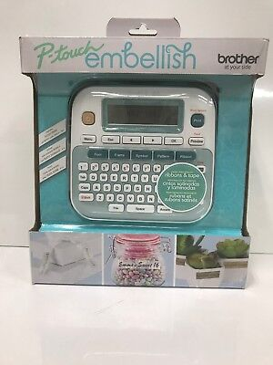 Brother Ptd215e P-touch Embellish Ribbon Tape Label Printer