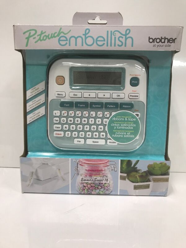 Brother PTD215E P-touch Embellish Ribbon & Tape Label Printer