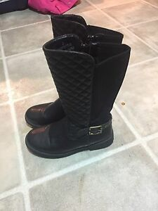 Girls youth black boots