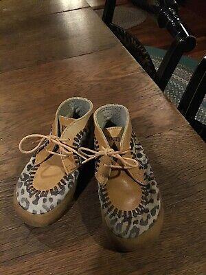 Pom D' api Toddler Girls Leopard Ankle Boots....size 25