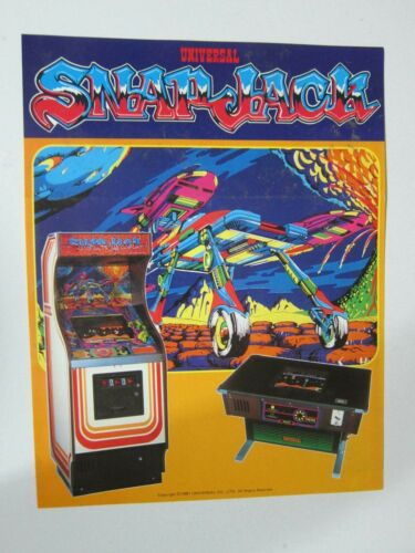 """1981 UNIVERSAL CO """" SNAP JACK """" VIDEO ARCADE GAME FLYER"""