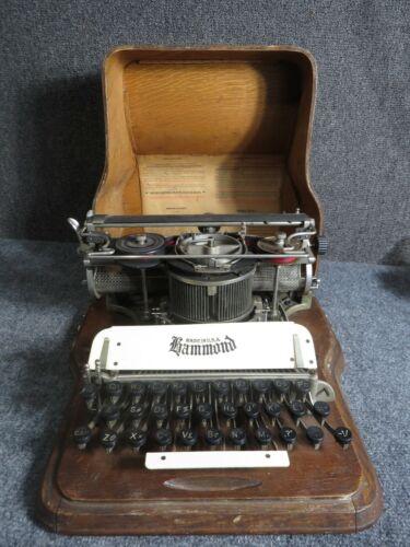 Antique Hammond Typewriter with Oak Case