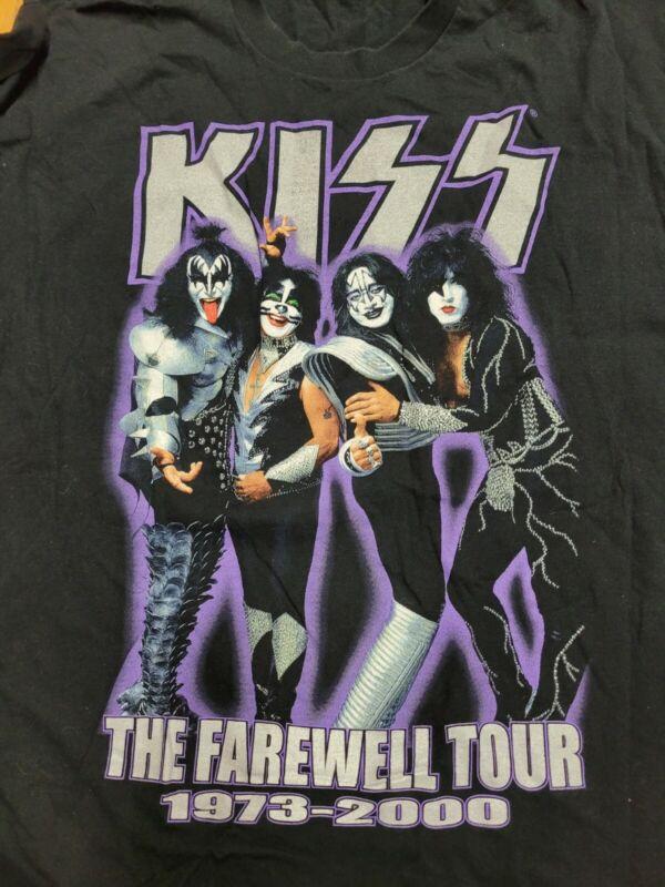 VINTAGE KISS FAREWELL TOUR 1973-2000 ORIGINAL CONCERT T SHIRT SIZE XXL