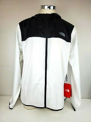The North Face Men's Cyclone 2 White/Black Hooded Jacket Size XXL Windbreaker