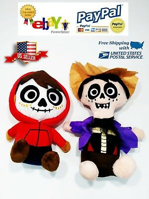Miguel and Hector Plush Toy Set From Disney movie COCO Stuffed Doll Kids Gift  - Movie Plush Toy