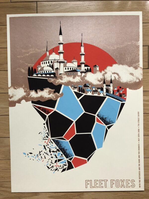Official Fleet Foxes Poster Screenprint