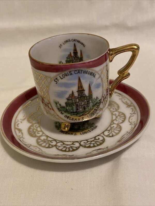St Louis Cathedral New Orleans Louisiana Mini Cup & Saucer