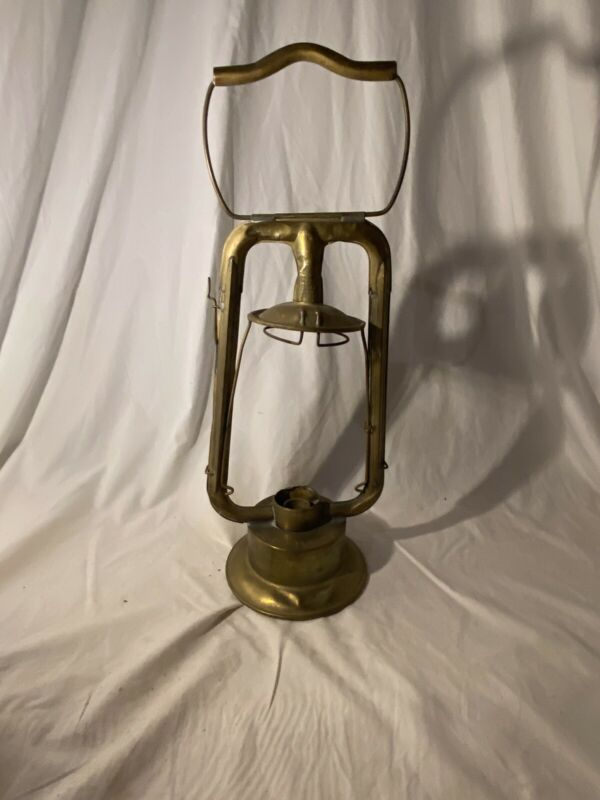 1800s EARLY BRASS DIETZ FIRE DEPT OLD LANTERN fire department equipment vtg