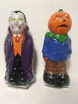 VTG Halloween BLOW MOLD Set Light Topper Pumpkin Vampire General Foam Empire Lot