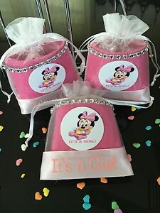 pouches baby minnie mouse it 39 s a girl baby shower favors party decor