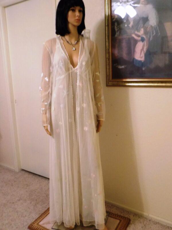 JONQUIL by DIANE SAMANDI Saks Fifth Ave BRIDAL Peignoir Set CELERY DAPHNE size L