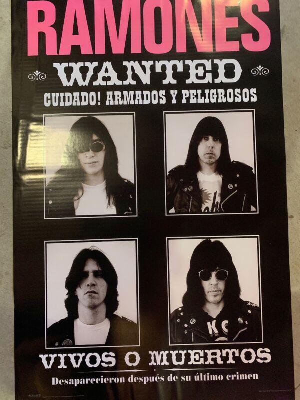 "Ramones, Music Poster, Vivos o Muertos , 22.25""x 34.25"" vintage punk rare"