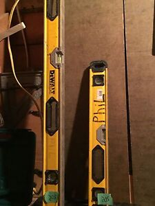 Pairs of dewalt levels 4' and 2'