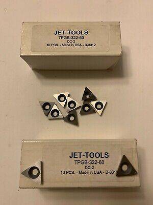 New 10 Pcs. Usa Tpgb 322-60 C 2 Grade Indexable Carbide Inserts