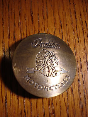 Indian Motorcycles Solid Brass w/Antique Finish OLD WESTERN BADGE PIN 167