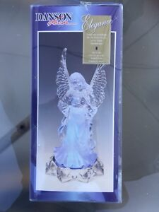 Angel with lighted blue base