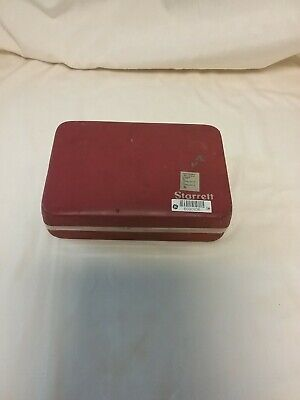 Vintage Starrett 196 Back Plunger Type Test Dial Indicator Case