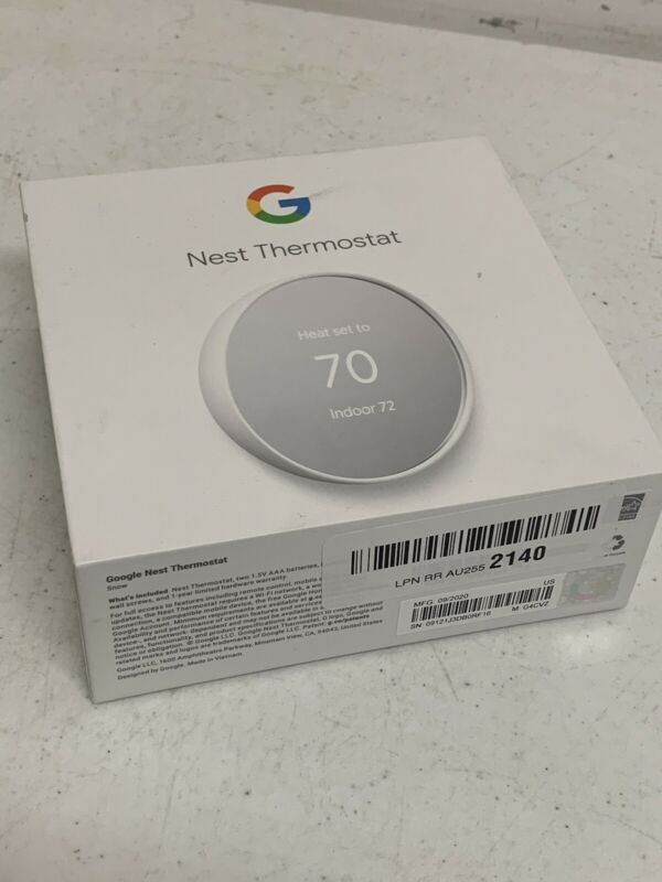 Google Nest Smart Thermostat G4CVZ - Snow (GA01334-US) Open Box