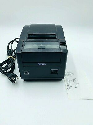 Citizen Ct-s601 Pos Fast Thermal Receipt Printer - Ethernet - Autocut Black