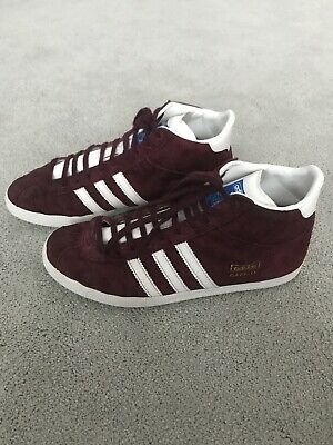 Adidas Gazelle Mid Trainer Boot In Burgundy - Uk Size 6