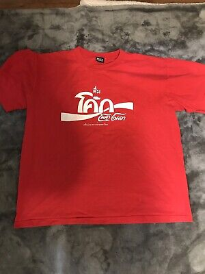 VINTAGE XL THAILAND THAI COCA COLA TSHIRT SINGLE STITCH HEAVYWEIGHT SUPREME