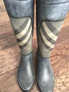 Burberry Clemence Rain/Riding Boot sz 38