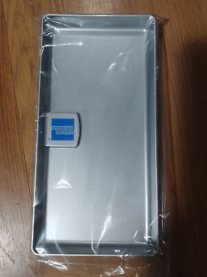 New American Express Amex Tip Tray Check Presenter Receipt Holder- Silver