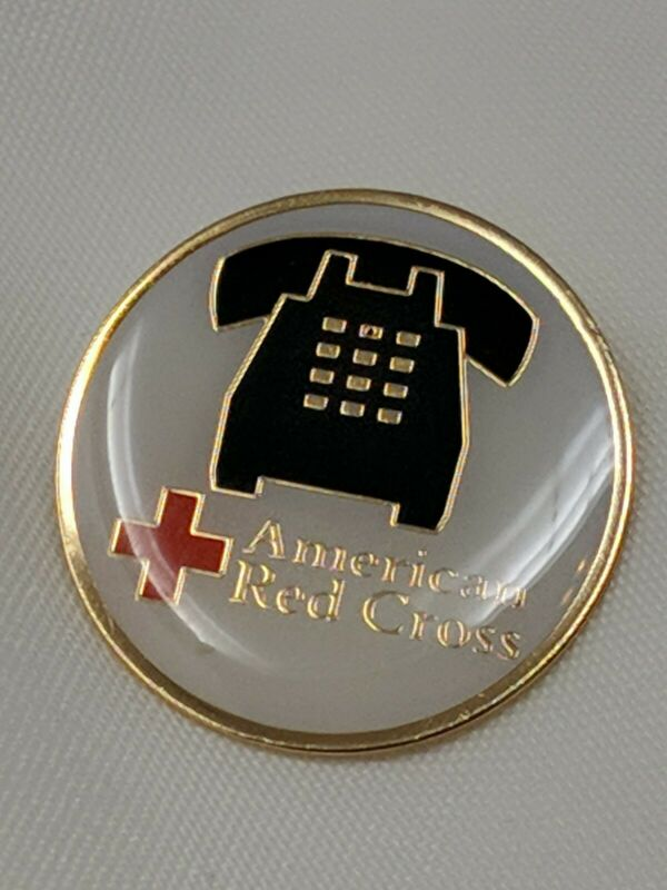 Vintage American Red Cross ARC Pin Push Button Telephone