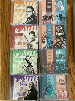 The Best of Big Band 4 CDs and Kings of Swing 4 CDs - Goodman Basie Dorsey