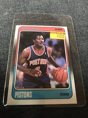 Joe Dumars Detroit Pistons (1988-89 Fleer Joe Dumars #40 NMMT Detroit Pistons NBA Basketball)