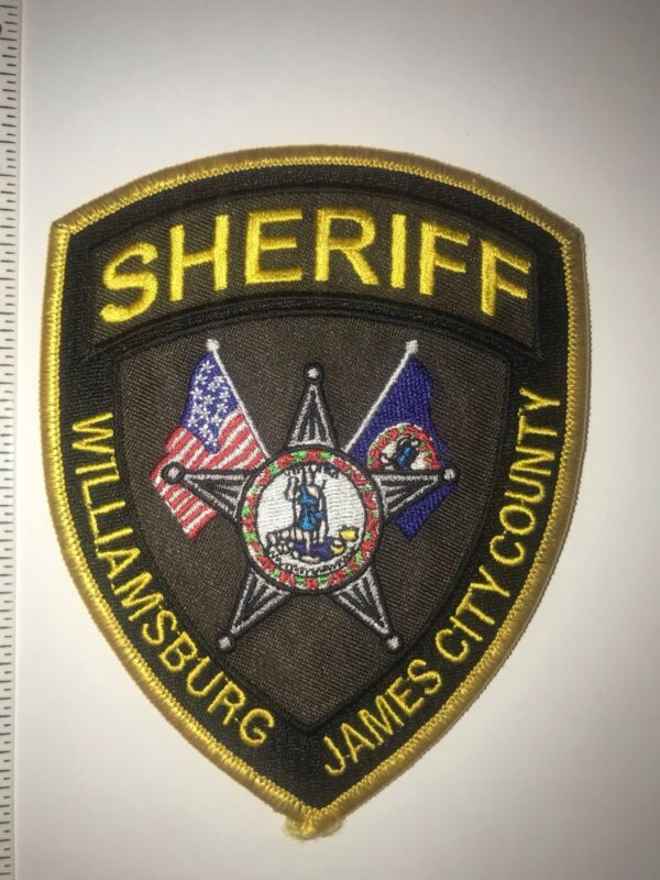 Williamsburg Virginia James City County Sheriff Police Shoulder Patch New