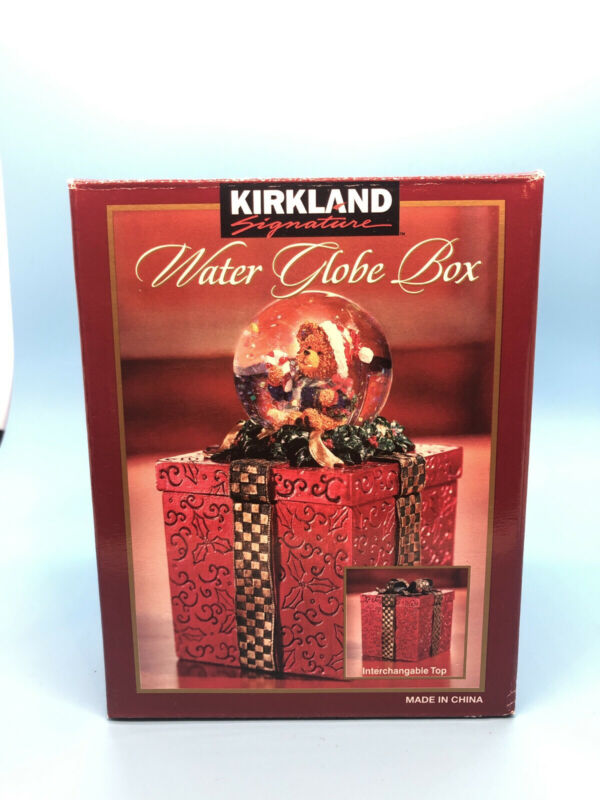Vintage Kirkland Signature Water Globe Box Bear New In Box