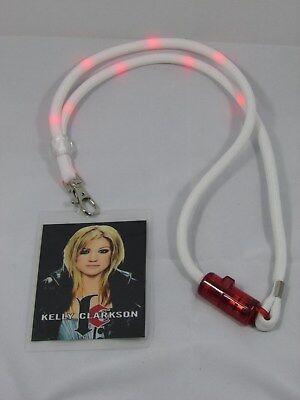 KELLY CLARKSON 2005 HAZEL EYES TOUR LANYARD WITH TOUR CARD - FLASHING LIGHTS