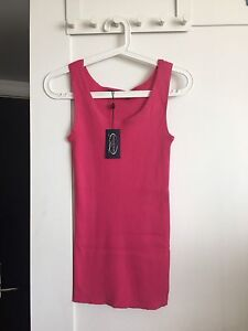Brand new ribbed Cotton tank in hot pink