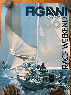 Vintage Figawi Sailing Race '86 Vin Poster Hyannis Nantucket-Rare, Collectible