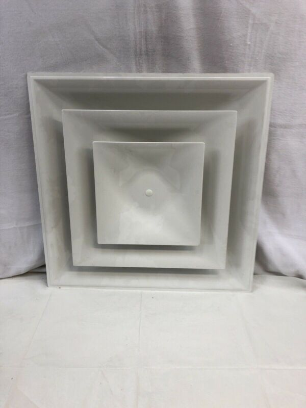 Ceiling Diffuser Vent 4 Way White Plastic 2-ft x 2-ft